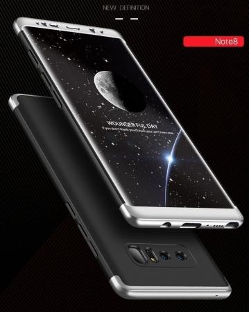 Husa GKK 360 Silver pentru Samsung Galaxy Note 81