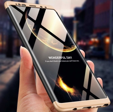 Husa GKK 360 Gold pentru Samsung Galaxy Note 94