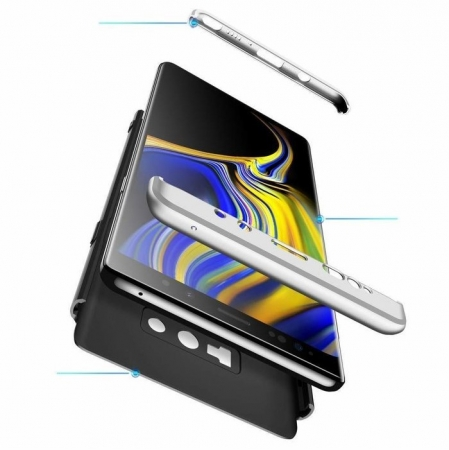 Husa GKK 360 Silver pentru Samsung Galaxy Note 95