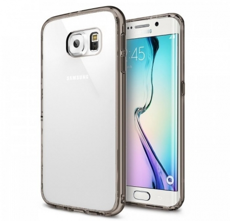 Husa Ringke FUSION Smoke Black + BONUS folie protectie display Ringke pentru Samsung Galaxy S6 Edge Plus0