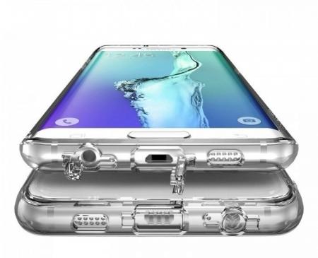 Husa Ringke FUSION Smoke Black + BONUS folie protectie display Ringke pentru Samsung Galaxy S6 Edge Plus2