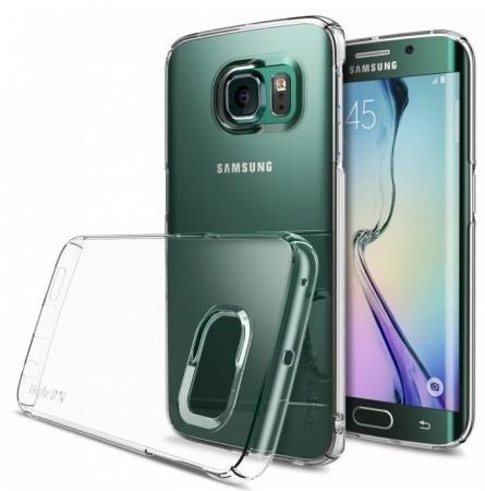 Husa Ringke SLIM CRYSTAL TRANSPARENT+BONUS folie protectie display Ringke pentru Samsung Galaxy S6 Edge Plus2