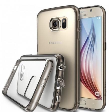 Husa Ringke FUSION SMOKE BLACK+BONUS folie protectie display Ringke pentru Samsung Galaxy S60