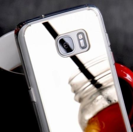 Husa Ringke MIRROR SILVER + BONUS folie protectie display Ringke pentru Samsung Galaxy S65