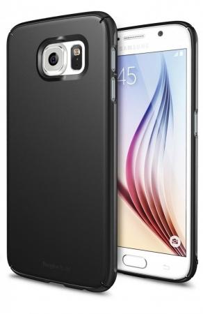 Husa Ringke SLIM SF BLACK+BONUS folie protectie display Ringke pentru Samsung Galaxy S62