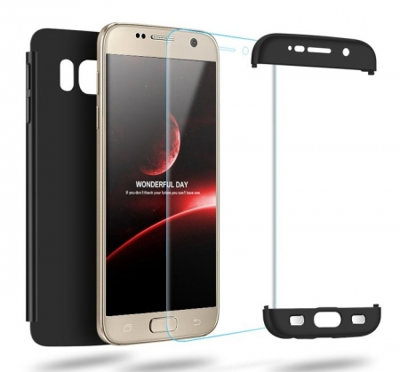 Husa GKK 360 Argintiu pentru Samsung Galaxy S7 Edge4