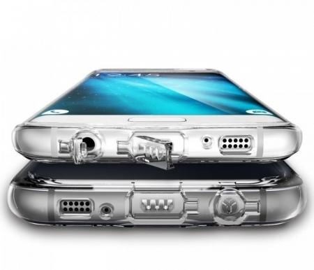Husa Ringke FUSION SMOKE BLACK pentru Samsung Galaxy S73