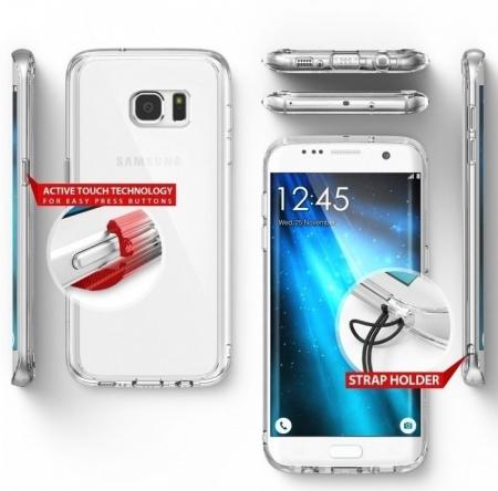 Husa Ringke FUSION SMOKE BLACK pentru Samsung Galaxy S74