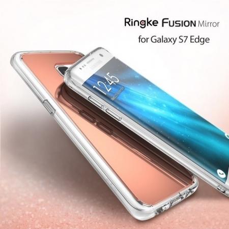 Husa Edge Ringke MIRROR ROSE GOLD pentru Samsung Galaxy S74