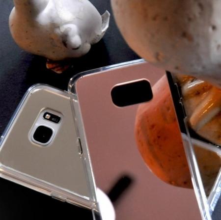 Husa Edge Ringke MIRROR ROSE GOLD pentru Samsung Galaxy S73