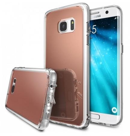 Husa Edge Ringke MIRROR ROSE GOLD pentru Samsung Galaxy S70