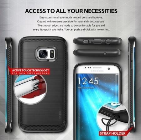 Husa Ringke ONYX MIST GREY pentru Samsung Galaxy S7 Edge4