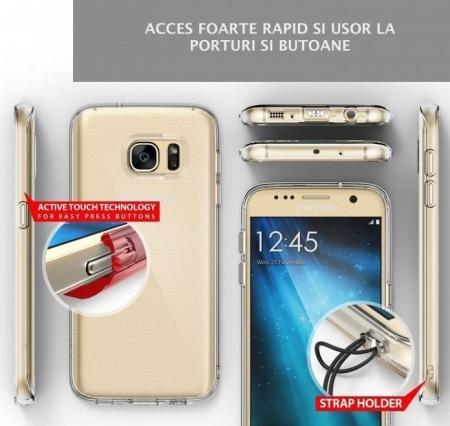Husa Ringke AIR CRYSTAL VIEW + BONUS folie protectie display Ringke pentru Samsung Galaxy S75