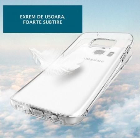 Husa Ringke AIR CRYSTAL VIEW + BONUS folie protectie display Ringke pentru Samsung Galaxy S73