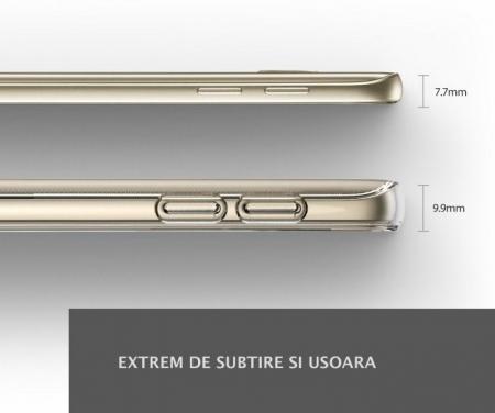 Husa Ringke AIR ROSE GOLD + BONUS folie protectie display Ringke pentru Samsung Galaxy S76
