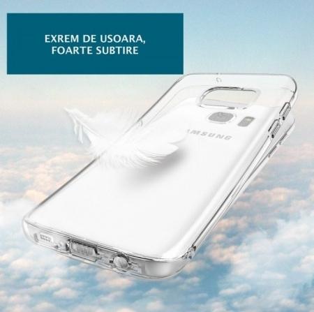 Husa Ringke AIR ROSE GOLD + BONUS folie protectie display Ringke pentru Samsung Galaxy S73