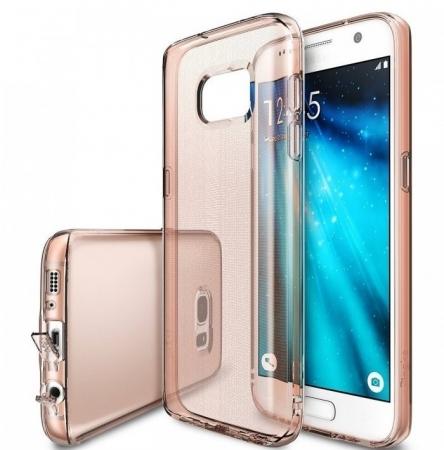 Husa Ringke AIR ROSE GOLD + BONUS folie protectie display Ringke pentru Samsung Galaxy S71