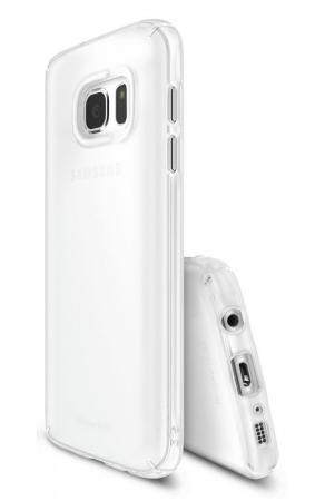 Husa Ringke Frost WHITE BONUS folie protectie display Ringke pentru Samsung Galaxy S72