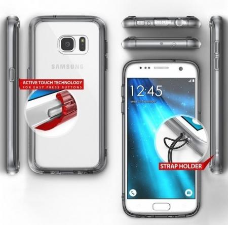 Husa Ringke FUSION CRYSTAL VIEW TRANSPARENT pentru Samsung Galaxy S72
