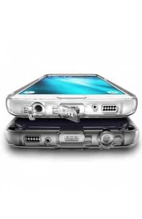 Husa Ringke FUSION ROSE GOLD + BONUS folie protectie display pentru Samsung Galaxy S72