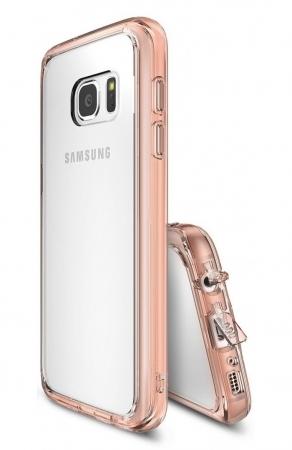 Husa Ringke FUSION ROSE GOLD + BONUS folie protectie display pentru Samsung Galaxy S71