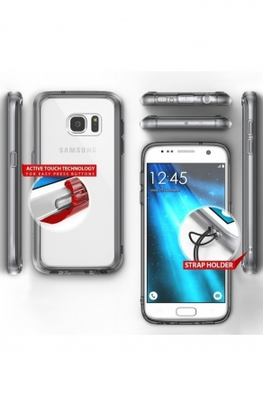 Husa Ringke FUSION ROSE GOLD + BONUS folie protectie display pentru Samsung Galaxy S73
