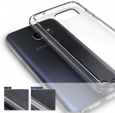 Husa Ringke FUSION ROSE GOLD + BONUS folie protectie display pentru Samsung Galaxy S74