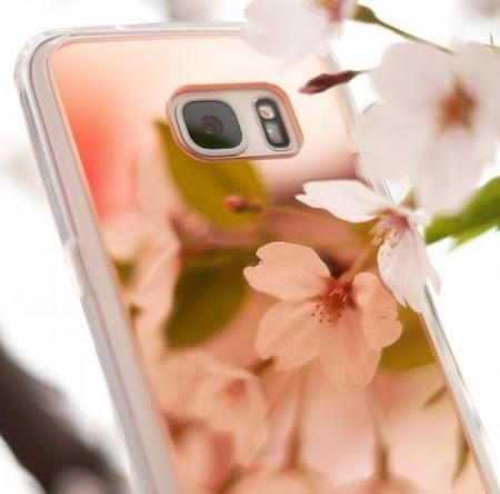 Husa Ringke MIRROR ROSE GOLD + BONUS folie protectie display Ringke pentru Samsung Galaxy S76