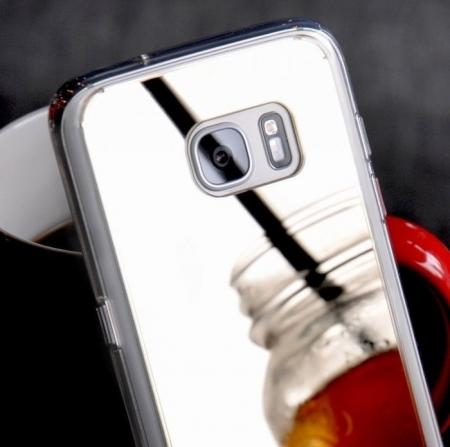 Husa Ringke MIRROR ROSE GOLD + BONUS folie protectie display Ringke pentru Samsung Galaxy S75