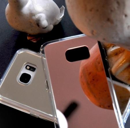 Husa Ringke MIRROR ROSE GOLD + BONUS folie protectie display Ringke pentru Samsung Galaxy S73