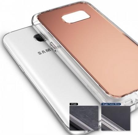 Husa Ringke MIRROR SILVER + BONUS folie protectie display Ringke pentru Samsung Galaxy S73