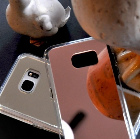 Husa Ringke MIRROR SILVER + BONUS folie protectie display Ringke pentru Samsung Galaxy S74