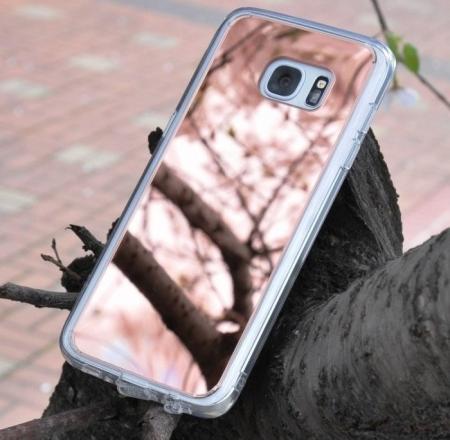 Husa Ringke MIRROR SILVER + BONUS folie protectie display Ringke pentru Samsung Galaxy S75