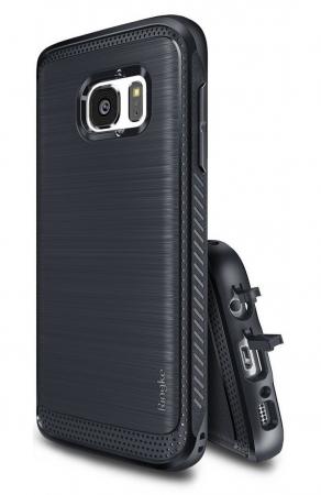Husa Ringke ONYX midnight navy blue + folie Ringke cadou pentru Samsung Galaxy S72