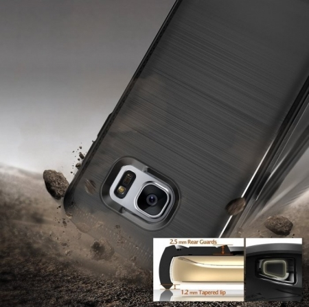 Husa Ringke ONYX MIST GREY + folie Ringke cadou pentru Samsung Galaxy S71