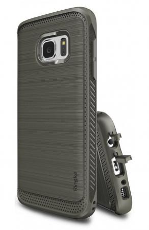 Husa Ringke ONYX MIST GREY + folie Ringke cadou pentru Samsung Galaxy S72