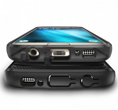 Husa Ringke ONYX MIST GREY + folie Ringke cadou pentru Samsung Galaxy S74