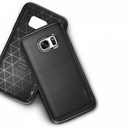 Husa Ringke ONYX MIST GREY + folie Ringke cadou pentru Samsung Galaxy S76