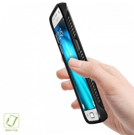 Husa Ringke ONYX MIST GREY + folie Ringke cadou pentru Samsung Galaxy S77