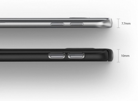Husa Ringke SLIM ROYAL GOLD + BONUS folie protectie display Ringke pentru Samsung Galaxy S76