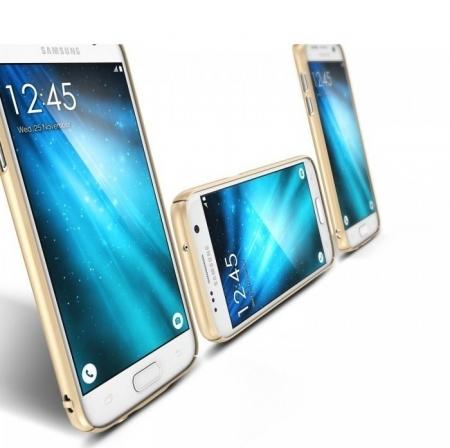 Husa Ringke SLIM ROYAL GOLD + BONUS folie protectie display Ringke pentru Samsung Galaxy S75