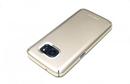 Husa Ringke SLIM ROYAL GOLD + BONUS folie protectie display Ringke pentru Samsung Galaxy S72