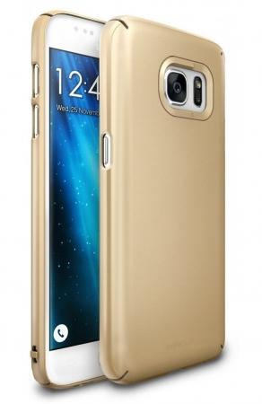 Husa Ringke SLIM ROYAL GOLD + BONUS folie protectie display Ringke pentru Samsung Galaxy S71