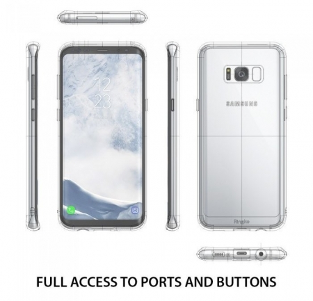 Husa Ringke Fusion Rose Gold pentru Samsung Galaxy S8 Plus4