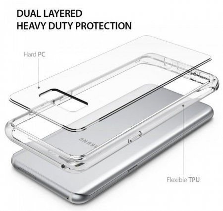 Husa Ringke Fusion Smoke Black pentru Samsung Galaxy S8 Plus5