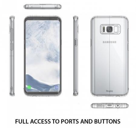 Husa Ringke Slim Blue Pearl pentru Samsung Galaxy S8 Plus2