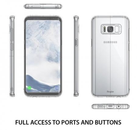 Husa Ringke Slim Frost Pink pentru Samsung Galaxy S8 Plus2