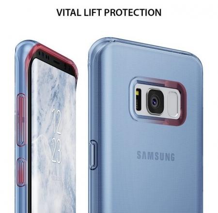 Husă Ringke Air Aqua Blue pentru Galaxy S81