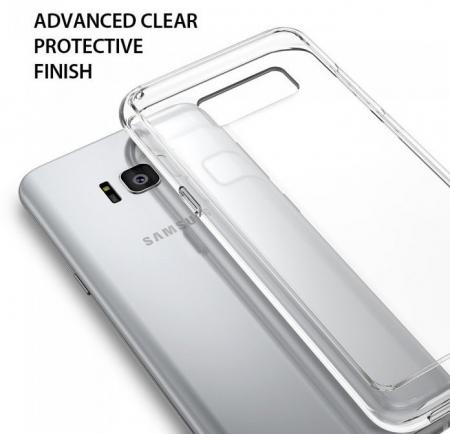 Husa Ringke Fusion Smoke Black pentru Samsung Galaxy S86
