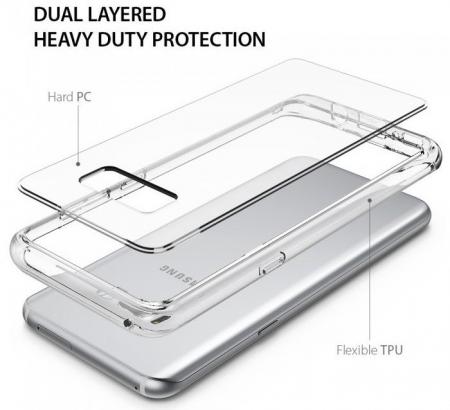 Husa Ringke Fusion Smoke Black pentru Samsung Galaxy S85